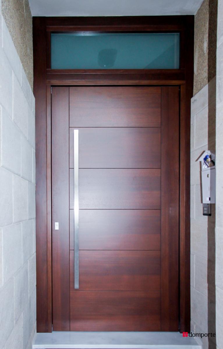 Puertas de madera exterior precios interesting rustica for Precio puerta madera maciza